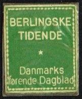 BERLINGSKE TIDENDE Danmarks Førende Dagblad. 2 ØRE (Michel: ) - JF163934 - Danemark