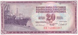 Yugoslavia 20 Dinara 1981 UNC - Yougoslavie