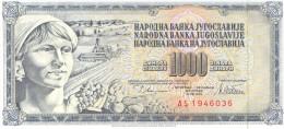 Yugoslavia 1000 Dinara 1978 UNC - Yougoslavie
