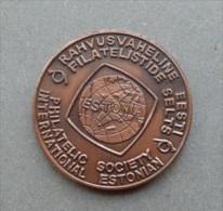 ESTLAND Estonia 1997 Bronze-Medaille Der Philaausstellung Estonia Rakvere Wesenberg - Estland