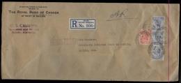 BC - Br. Honduras. Cartas. 1929 (5 July). Belize - USA. Reg AR Large Size Multifkd Env. 18c Rate + US Customs. - Unclassified