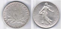 FRANCIA FRANCE  FRANC 1901 PLATA SILVER - Francia