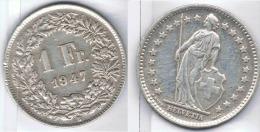 SUIZA HELVETIA  FRANCO FRANC 1947  PLATA SILVER - Suiza