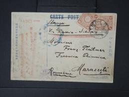 JAPON-  Carte ( Inondations En Ville)  Voyagée En 1915 Pour La Roumanie Voie De Sibérie    LOT P5121 - Covers & Documents