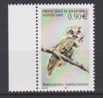 ANDORRA (French), 2005, Bird, Boreal Owl, MNH - Owls