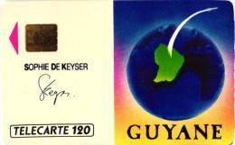 TELECARTE 120 U . GUYANE. SOPHIE DE KEYSER - Schede Telefoniche