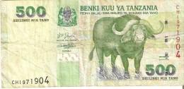 BILLETE DE TANZANIA DE 500 SHILINGI DE UN BUFALO (BANKNOTE) - Tanzania