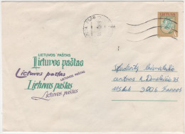 Litauen Ganzsache Brief aus Klaipeda 011