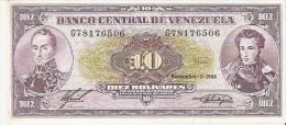 BILLETE DE VENEZUELA DE 10 BOLIVARES DEL AÑO 1988  (BANK NOTE) - Venezuela