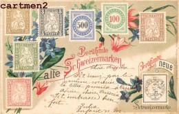 BERÜHMTE ALTE SCHWEIZERMARKEN TIMBRES SUISSE STAMP HELVETIA TIMBRE 1900 + CACHET AMBULANT N°4 BULLE - Timbres (représentations)