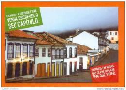 CARTE POSTALE POSTAL POSTCARD BRAZIL BRASIL MINAS GERAIS OURO PRETO STREET SCENE RUE VUE - Belo Horizonte