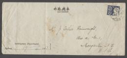 AUSTRALIA. Cartas. 1907 (17-18 June). NSW. Sydney - USA (23-29 June). OHMS Official Perfin Single Fkd Env. Fine Overs... - Unclassified