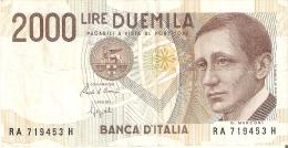 BILLETE DE ITALIA DE 2000 LIRAS DEL AÑO 1990  MARCONI  (BANKNOTE) - [ 2] 1946-… : República