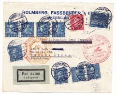 Schweden 8.10.1932 Stockholm Zeppelin Südamerikafahrt Brief Nach Buenos-Aires Argentinien - Poste Aérienne
