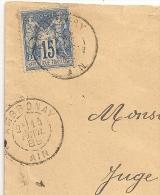 AMBRONAY Bloc Dateur Mixte Ain Sur Enveloppe SAGE. - 1877-1920: Période Semi Moderne