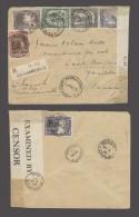 BELGIAN CONGO. Cartas. 1940 (24 Feb). Costermansville - Canada, Saint Boniface, Manitoba. Reg mulitfkd censored env (...