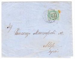 Italien 20.9.1884 Castellammare Stabia Brief Nach Alep Syrien Stempel Smyrne Arrivée - 1878-00 Humbert I.