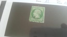 LOT 259108 TIMBRE DE FRANCE OBLITERE N�12 VALEUR 90 EUROS  DEPART A 1€