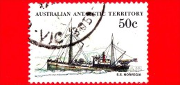 Territorio Antartico Australiano - AAT - Usato - 1981 - Nave - Imbarcazione Ship S.S. Norvegia - 50 - Usati