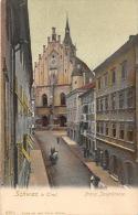 P621 Schwaz In Tirol 1906, Franz Josefstrasse, Animated, Kirche, Church, Eglise, Austria
