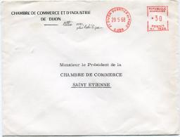 FRANCE ENVELOPPE DE LA CHAMBRE DE COMMERCE ET D'INSDUSTRIE DE DIJON GREVE DE 1968 - Marcophilie (Lettres)