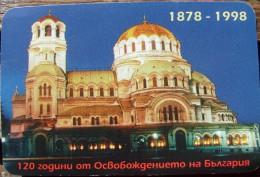 Sofia - Cathedral A. Nevski - 1998  - Printed In Bulgaria - Tamaño Pequeño : 1981-90