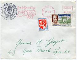 FRANCE LETTRE AVEC CACHET DE LA CHAMBRE DE COMMERCE DE ST ETIENNE  GREVE DE 1968 - Marcophilie (Lettres)