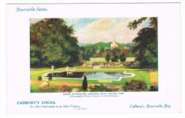 RB 1038 - Early Advertising Postcard - Cadbury's Cocoa - Girl's Recreation Grounds Bournville Birmingham - Advertising