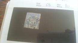 LOT 259203 TIMBRE DE FRANCE OBLITERE N�68 VALEUR 80 EUROS DEPART A 1€