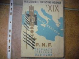 Antica PAGELLA P.N.F. GIOVENTU' ITALIANA DEL LITTORIO Anno XIX OLEGGIO  Novara - Diplomi E Pagelle