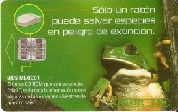 TARJETA DE MEXICO DE UNA RANA (FROG)