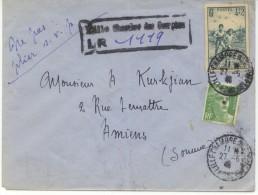 N°740+719 Sur Lettre Rec. Provisoire De Lille Pour Amiens Du 27/5/46 - France