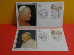 Jean Paul II, Visite - 74 Annecy/01 Ars Sur Formans - 5.6 & 7.10.1986 - 1er Jour - Lot 2 FDC - 1980-1989