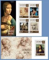 slm14706ab Solomon Is. 2014 Painting Leonardo da Vinci 2 s/s