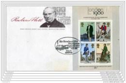 EPSOSIZ FIL DI LONDRA - FDC FOGLIETTO R. HILL - Rowland Hill