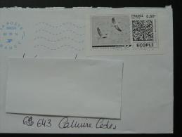 Oies Sauvages Timbre En Ligne Sur Lettre - E-stamp On Cover 2672 - Oche
