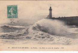 56 - BELLE-ÎLE-EN-MER - Le Palais - La Jetée Un Jour De Tempête - Belle Ile En Mer