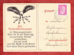 Spaete Post, Propaganda, Nachrichtentruppe Ist Fuehrungstruppe..., Hitler, Niederstetten Nach Freiburg 26.2.1945 (76997) - Briefe U. Dokumente