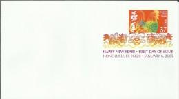 ESTADOS UNIDOS USA HONOLULU 2005 AÑO NUEVO CHINO MAT MULTICOLOR - Chinese New Year