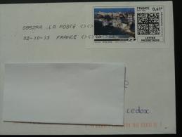 falaise cliff Corse timbre en ligne sur lettre - e-stamp on cover 2860