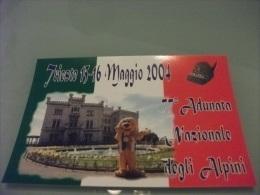 ALPINI TRIESTE 2004 77° ADUNATA  NAZIONALE DEGLI ALPINI LA MASCOTTE DAL CATELLO MIRAMARE - Régiments