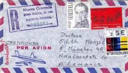 VENEZUELA 1979 - 3 Fach Frankierung Auf R-LP-Brief - Venezuela