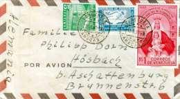VENEZUELA 1960 - Sehr Schöne 3 Fach Frankierung Auf R-LP-Brief Von Caracas Nach Österreich - Venezuela