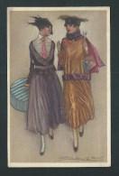 Mauzan.  Deux Jolies Femmes élégantes, En Promenade. Série 343/1.  2 Scans. - Mauzan, L.A.