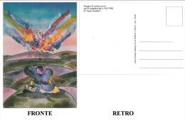 """CARTOLINA DISEGNO DI ANDREA RAUCH PER LA COPERTINA DEL N. 30/1988 DI """"LINEA D'OMBRA"""" CONDIZIONI BUONE - Fumetti"""