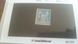 LOT 259306 TIMBRE DE FRANCE NEUF* N�90 VALEUR 60 EUROS DEPART A 1€