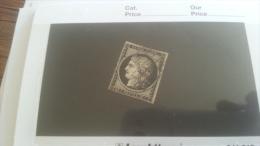 LOT 259309 TIMBRE DE FRANCE OBLITERE N�3 VALEUR 60 EUROS DEPART A 1€