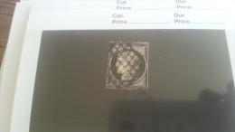 LOT 259310 TIMBRE DE FRANCE OBLITERE N�3 VALEUR 60 EUROS DEPART A 1€