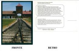 CARTOLINA AUSCHWITZ - BIRKENAU CONDIZIONI BUONE - Prigione E Prigionieri