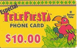 CARTE-PREPAYEE-USA-10$-MSN TELECOM-TELEFIESTA-PAPIER -GRATTE-TBE - Sonstige